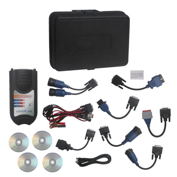 XTrucks USB Link Software Diesel Truck Diagnose Interface With Plastic Box