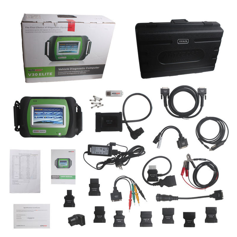 Original AutoBoss V30 Elite Vehicle Diagnostic Tools Testing Report Saving Function