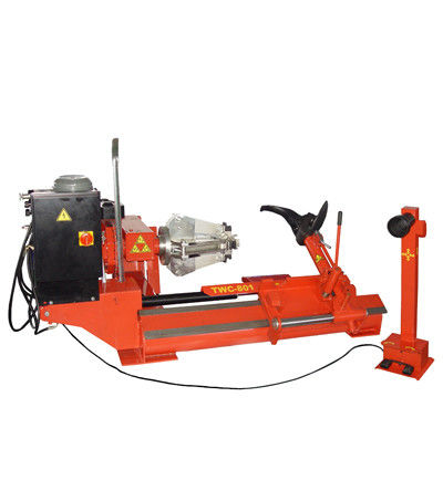50HZ Hydraulic Auto Workshop Equipment , 380V Mobile Tyre Changer For Heavy Vehicles